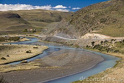 Clean rivers winding among the bare hills