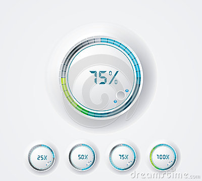 Free Clean Round Progress Bar. Royalty Free Stock Images - 35304239