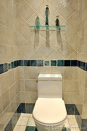 Clean toilet interior