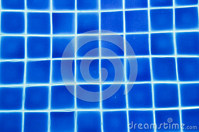 clean water in a blue swimming pool