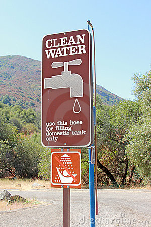 Clean Water Sign