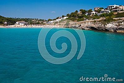 Clean waters of Mediterranean Sea, Majorca, Spain