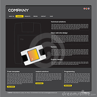 Clean  web site design template