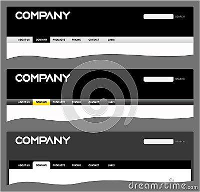 Clean web site headers
