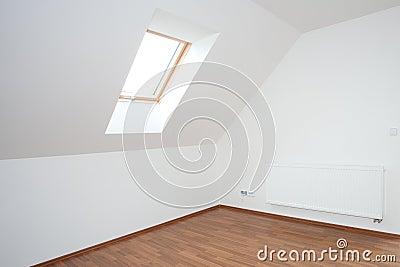 Clean white room  interior