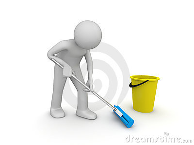 Cleaner at work