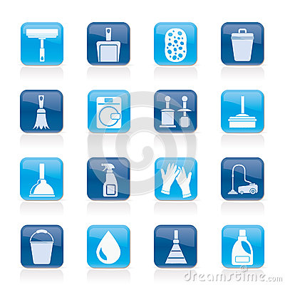 Free Cleaning And Hygiene Icons Royalty Free Stock Photos - 25471998