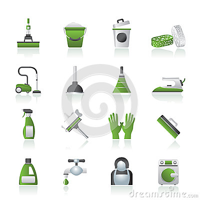 Free Cleaning And Hygiene Icons Stock Images - 25868524