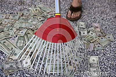 https://thumbs.dreamstime.com/x/cleaning-black-dolar-money-rake-metaphor-7890944.jpg