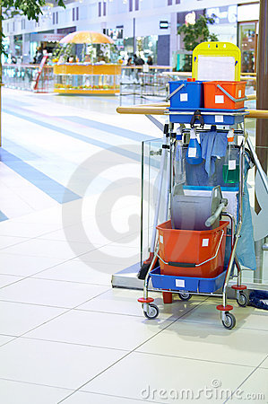 Free Cleaning Cart Royalty Free Stock Image - 7437766