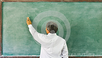 Cleaning the chalkboard