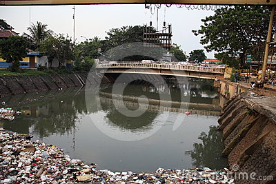 Cleaning Ciliwung River Editorial Stock Image