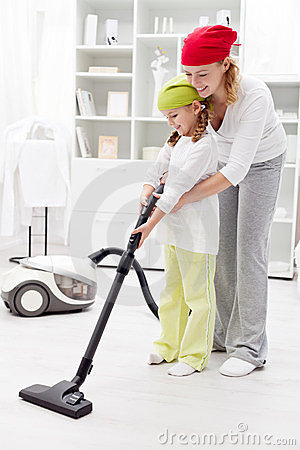 Free Cleaning Day In The Family Stock Photography - 23737152