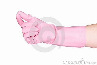 Cleaning glove isolated on white