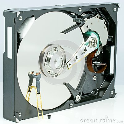 Cleaning a hard drive