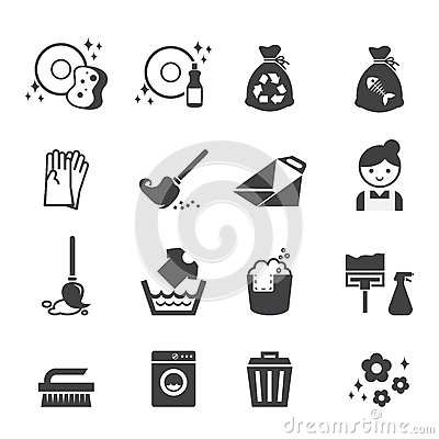 Free Cleaning Icon Stock Photos - 47972403