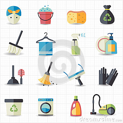 Free Cleaning Icons Stock Photos - 39119603