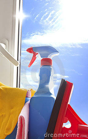 Cleaning kit for cleaner on the window
