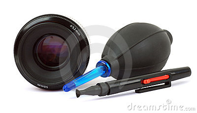 Cleaning lens camera
