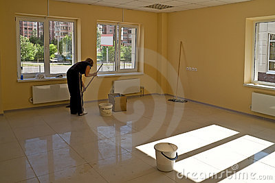 Cleaning in new office premise
