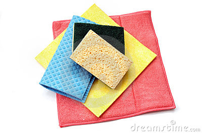 Cleaning rags and sponges