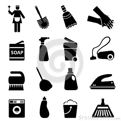 Free Cleaning Supplies And Tools Royalty Free Stock Photos - 29194758