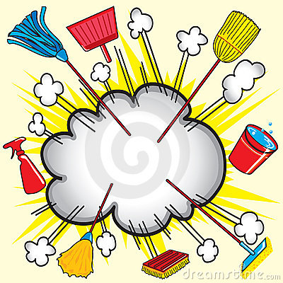 Free Cleaning Supply Explosion Stock Image - 9053331