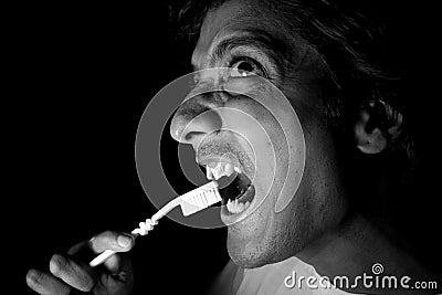 Cleaning Vampire Teeth