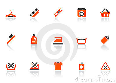 Cleaning and washing icons