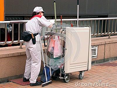 Cleaningarbetare
