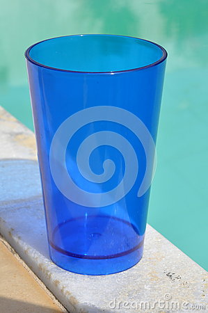 Clear Blue Plastic Cup Stock Photo Image 56018479
