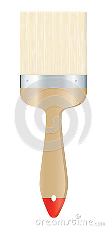 Clear brush on white background