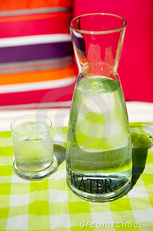Clear carafe water