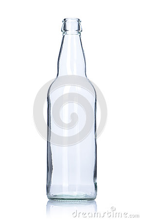 Free Clear Empty Glass Bottle Stock Photography - 32046082