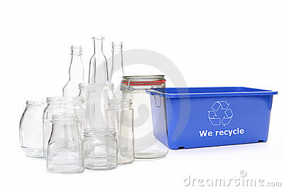 Clear glass disposal