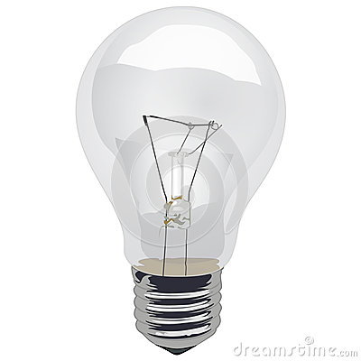 Free Clear Incandescent Light Bulb Stock Photo - 33881150