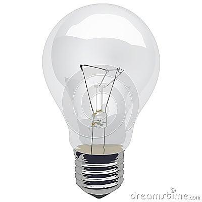Clear Incandescent Light Bulb