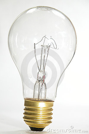 Free Clear Light Bulb Royalty Free Stock Photos - 29698