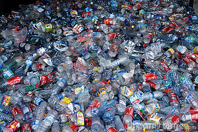 Clear plastic recycling Editorial Stock Image