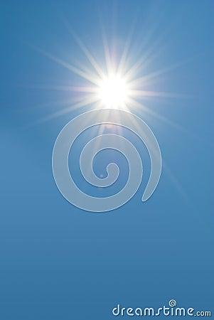 Clear sky with sun