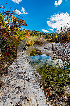 Free Clear Stream And Fall Leaves At Lost Maples State Park, Texas Stock Photography - 48264072