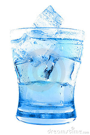 Clear water in glass
