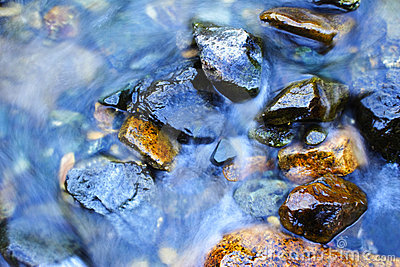 Clear Water and River Stones