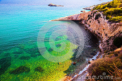 Clear water of the sea, Ibiza, Spain