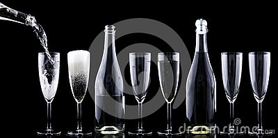 Clear Wine Glasses In A Row Free Public Domain Cc0 Image