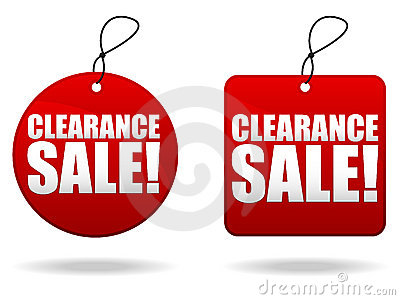Clearance Sale Tags