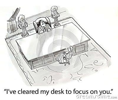 Cleared desk
