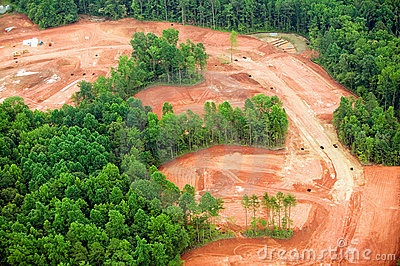 Clearing of land for housing developmen