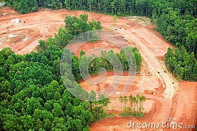 Clearing of land for housing developmen