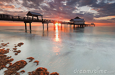 Clearwater beach florida, sunset